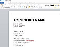 Resume Templates For Word 2007 by Microsoft Word 2007 Resume Template Thisisantler