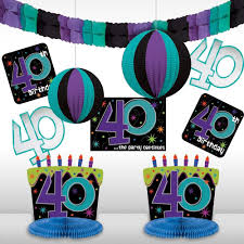 the party supplies the party continuous 40th birthday party assorted room
