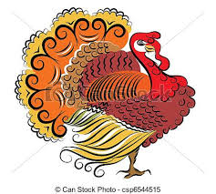 clipart vector of color turkey vector thanksgiving day csp6544515