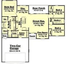Open Floor Plans Ranch Style 30x50 Rectangle House Plans Expansive One Story I Would Add A