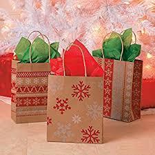 gift bags christmas white nordic print craft bags 1 dozen