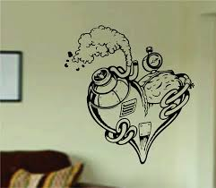 amazon com dabbledown decals steampunk heart wall vinyl decal amazon com dabbledown decals steampunk heart wall vinyl decal sticker art graphic sticker sugar skull sugarskull home kitchen