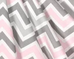 Pink And Gray Curtains Chevron Curtains Etsy