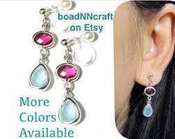 clip on earrings etsy no