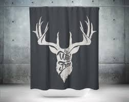 Whitetail Deer Shower Curtain Deer Shower Curtain Etsy