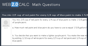 view question you mix 2 5 cup of red paint for every 1 4 cup of