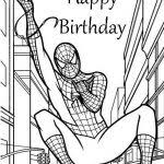 spiderman birthday coloring page spiderman birthday coloring pages spiderman giving birthday gifts