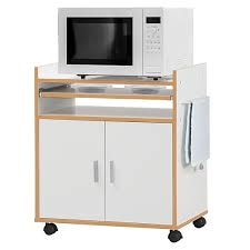kitchen storage cabinet cart costway rolling kitchen trolley microwave cart storage cabinet w removable shelf white