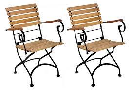 European Bistro Chair Amazon Com Mobel Designhaus French Café Bistro Folding Armchair