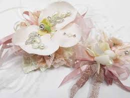 orchid wrist corsage blush pink gold orchid wrist corsage and boutonniere prom