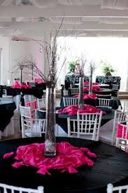 fuschia pink table cloth decorate the chairs with inexpensive plastic table cloths cut them