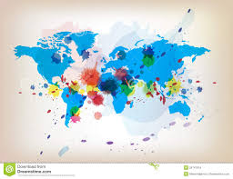 Artistic World Map by Watercolor World Map Stock Photos Image 35173193