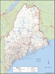 United States Map With Interstates by Large Detailed Map Of Maine With Cities And Towns