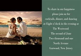 New Ideas For Wedding Invitation Cards Personalize Destination Wedding Photo Western Beach Invitations