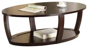 Oval Wood Coffee Tables Espresso Cocktail Table Home Design Ideas And Pictures