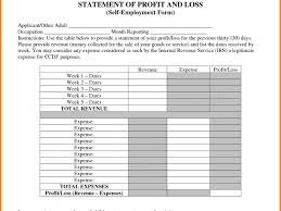 free sample profit and loss statement for self employed mickeles