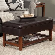 Faux Leather Ottoman Living Room Alluring Faux Leather Ottoman Coffee Table