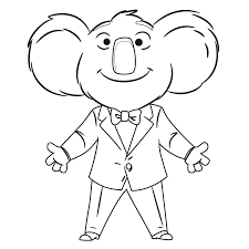 singing coloring page coloring home