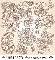 canvas print of henna flower mandala vector designs henna mehndi