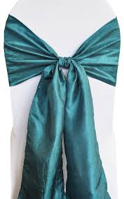 teal chair sashes oasis crushed crinkle taffeta chair sashes