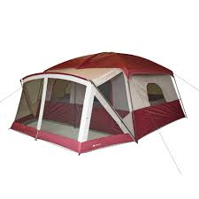 Tent Cabin by Ozark Trail 14 Person 4 Room Base Camp Tent Walmart Com