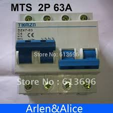 aliexpress com buy 2p 63a mts dual power manual transfer switch