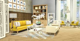 Livingroom Simsational Designs Updated Hamptons Hideaway Living Room Set