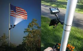 Flag Pole Lights Solar Powered Flagpole Solar Powered Lights 10 Best Flagpole Solar Lights