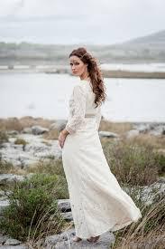 celtic wedding ivory lace celtic wedding dress with sleeves free spirited