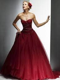 brautkleider rot organza tüll rot schicke lange brautkleider brautkleid