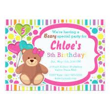 bear birthday invitations u0026 announcements zazzle