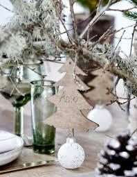 decoration de montagne une décoration de table de noël comme à la montagne table de