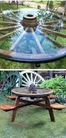 mesa de patio kar komido pinterest wagon wheels patio table