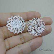 Miniature by Two Miniature Crochet Star Doily 1 12 Dollhouse By Minigio On Etsy
