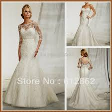 lace wedding dress with 3 4 sleeves naf dresses