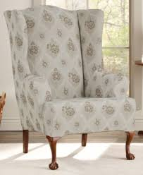 Wing Chair Cover Sure Fit Wing Chair Slipcover U2013 Coredesign Interiors
