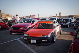 stanced muscle cars slammed society car show at formula drift finale import tuner