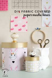 How To Make A Box With Paper - how to cover paper mache boxes with fabric the polka dot chair