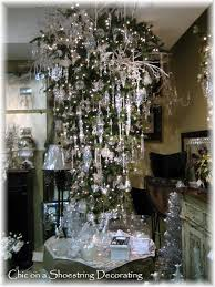 Upside Down Christmas Tree Chic On A Shoestring Decorating Dripping In Christmas Ey Bling