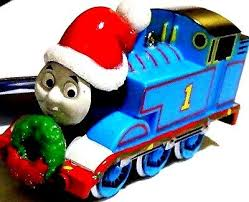 new friends tank engine santa claus hat ornament
