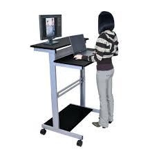 Ikea Black Computer Desk by Desk Stand Up Computer Desk Amazon Stand Up Workstation Black