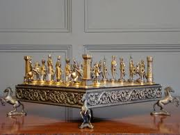 sold 20th century gilt metal chess set antique miscellaneous