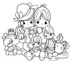 printable 14 precious moments family coloring pages 7265