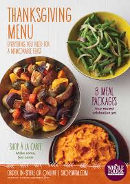 whole foods market south region thanksgiving menu by whole foods