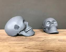 Unique Book Ends Skull Bookends Etsy