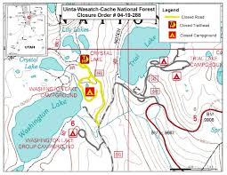 Map Of Logan Utah by Uinta Wasatch Cache National Forest Districts