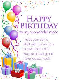 to my precious niece happy birthday wishes card bringing light