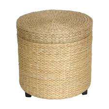 shop oriental furniture fiber weave coastal natural round ottoman