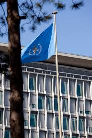 flag of the world health organization file world health organization headquarters and flag jpg wikimedia
