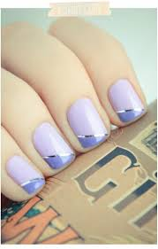Light Purple Nail Designs Purple Nails Saw This In Red Gold Stripe Black Tips Beautiful